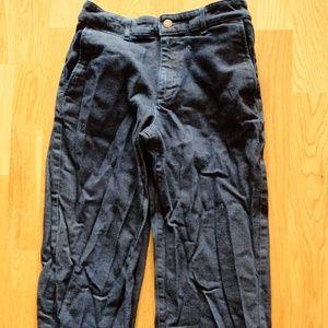 Muji Wide Leg Crop Denim Blue Jeans S 25